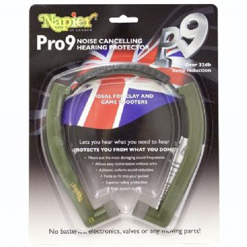 Napier Pro 9 Ear Defenders Hearing Protection Shooting UK Model P9 Comfort Plug